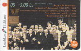 LATVIA - Baskatball 5/Rigas ASK, Tirage 35000, Exp.date 12/01, Used - Latvia