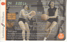 LATVIA - Baskatball 4/S.Smildzina Budovska-H.Bitnere Hehta, Tirage 35000, Exp.date 08/01, Used - Latvia