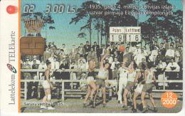LATVIA - Baskatball 2/National Team 1935, Tirage 35000, Exp.date 12/00, Used - Latvia