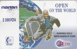 Burkina Faso, 2 500 FCFA, Onatel, Telmob, Open On The World, Globe , Runner, 2 Scans   Please Read - Burkina Faso