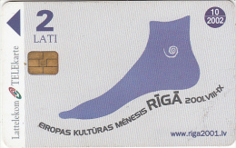 LATVIA - Telecard With Advertising Functions, Exp.date 10/02, Used - Latvia
