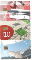 SWITZERLAND/SUISSE - CHF 5/10/20 - Set of 3 cards - Tourism