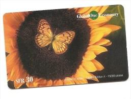 SWITZERLAND/SUISSE - Global One - Papillon / Butterfly - Tir. 15'000