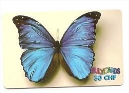 SWITZERLAND/SUISSE - Multicard CHF 30 - Papillon / Butterfly