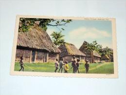 Carte Postale Ancienne : FIDJI , FIJI : Native Village , NADROGA - Fidji