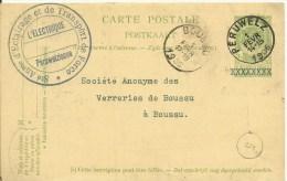 1906  Carte De Péruwelz Vers Boussu   L'Electrique Péruwelzienne   Cachet Facteur 5 - Postcards [1871-09]