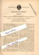 Original Patent - Ottilie Eickrodt In Berlin , 1888 , Corset , Korsett !!! - Historische Bekleidung & Wäsche