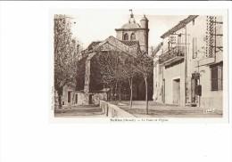 34 - NEFFIES - La Poste Et L'Eglise - Téléphone Public - EDIT BACCOU - - Otros Municipios