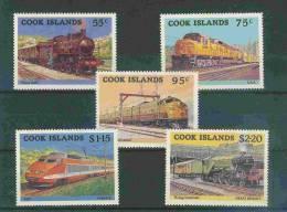 Timbres Neufs Sans Trace - Iles CCOK - TRAINS Dont TGV - COOK ISLANDS - Treinen