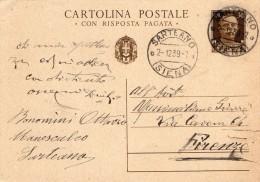 1939 CARTOLINA CON ANNULLO SARTEANO SIENA