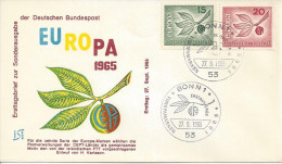 Germany (BRD) 1965  Europa  FDC  Mi.483-484 - FDC: Covers