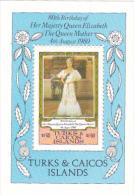 Turks& Caicos  Islands 1980 Queen Mother Souvenir Sheet MNH - Turks- En Caicoseilanden