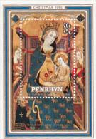 Penrhyn 1980 Christmas,The Virgin  And Child, Charity Souvenir Sheet MNH - Penrhyn