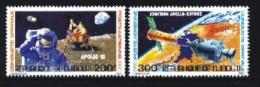 Djibouti / Dschibuti: 'Apollo 11 - Apollo-Sojus, 1980' / 'Manned Space Flights', Mi. 276-277; Yv. PA 138-139; Sc. C135-1 - Africa