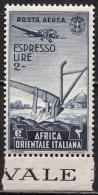 ITALIA - AFRICA  ORIENTALE -  AGRICULT. PLUG - PLOW - PLOUGH  - **MNH - 1938 - RARE - Landwirtschaft