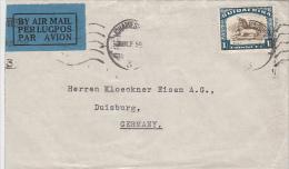 1386- COWS, STAMP ON COVER, 1935, SOUTH AFRIKA - Afrique Du Sud (1961-...)