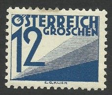 Austria, 12 G. 1925, Sc # J140, MNH - Strafport