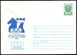 Schaken Schach Chess Ajedrez échecs - Bulgarie Bulgaria 1986 - Echecs