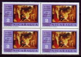 Schaken Schach Chess ajedrez �checs - Nicaragua 1976 - Blok van 4 - MiNr 1920