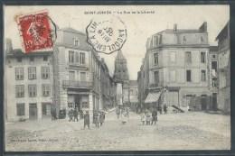 - CPA 87 - Saint Junien, la rue de la Libert�