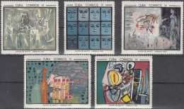 Cuba 1967 Mi 1319/43 Scott 1249/73 Salon De Mayo, Contemporary Art...Picasso, Hundertwasser, Magritte, Miró...MNH ** - Picasso