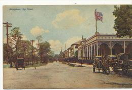 Guyana British  Georgetown , High Street Edit Booker Bros , Demerara - Cartes Postales