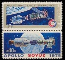1975 USA Apollo-Soyuz Stamps Sc#1569-70 1570a Space Joint Issue Earth Globe - Gemeinschaftsausgaben