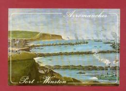CPM  FRANCE  14  -  ARROMANCHES  -  2213  Le Port Artificiel ( Le Goubey 70/80 ) - Arromanches