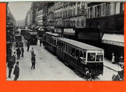 Tramways électriques Le Long De La Gare Du Nord - Paris - Motrice G, Remorque A -Editions AMTUIR   Photos RATP (repro) - Tramways