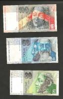 [NC] SLOVAKIA / SLOWAKEI - 20 / 50 / 100 KORUN (1993 / 1996) LOT Of 3 DIFFERENT BANKNOTES - Slovacchia