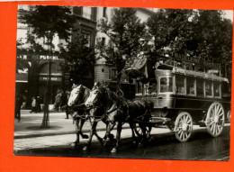 Bus - Attelage - Madeleine /Bastille Paris 1900 - La Madeleine Bastille à Son Départ Edition Guillemain Photo Desoye - Cartes Postales