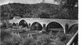 CPSM 30 ST JEAN DU GARD LE VIEUX PONT 1956 - Saint-Jean-du-Gard