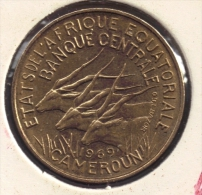 Afrique équatoriale 10 FRANCS 1969 Banque Centrale Des Etats De L´Afrique Equatoriale Et Du Cameroun  ANIMAL - Monnaies