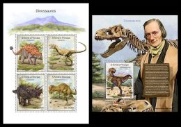 S. TOME & PRINCIPE 2014 - Dinosaurs, Mountains, M/S + S/S. Official issue