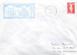 BATEAU  T.C.D ORAGE  ZMOI 92 PARIS NAVAL  8/8/92 MARCOPHILIE - Marcophilie (Lettres)