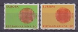 Europa Cept 1970 San Marino 2v ** Mnh (F1270) - 1970
