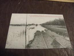 A177..CPA..44..LES INONDATIONS,Décembre 1910..Rupture De La Route.Haute Goulaine &  D'Embreuil.rare Beau Plan.non Ecrite - Haute-Goulaine