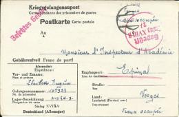Kriegsgefangenenpost Prisonnier De Guerre Stalag XVIII A Wolfsberg 1941+ Censure ,vers Epinal - Weltkrieg 1939-45
