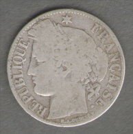 FRANCIA 1 FRANCO 1872 AG SILVER - H. 1 Franco