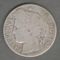 FRANCIA 1 FRANCO 1872 AG SILVER - Francia