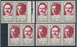 Lot DDR ZD Michel No. 1650 - 1651 /  W Zd 244 - 247 ** postfrisch