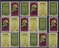 Lot DDR ZD Michel No. 1365 - 1367 /  W Zd 192 - 197 ** postfrisch