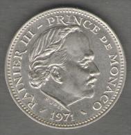 MONACO 5 FRANCS 1971 - Monaco
