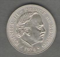MONACO 5 FRANCS 1974 - Monaco
