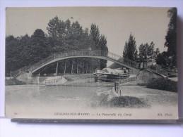 CHALONS SUR MARNE (51) - LA PASSERELLE DU CANAL - PENICHE - Châlons-sur-Marne