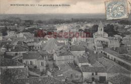 17 - MONTENDRE  -  Vue Generale Prise Du Chateau -  2 Scans - Montendre