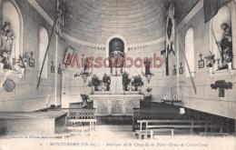 17 - MONTENDRE _ Interieur De La Chapelle De Notre Dame De La Croix -  Dos Vierge - 2 Scans - Montendre