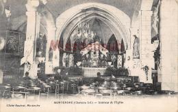17 - MONTENDRE - Interieur De Ll'Eglise -  Dos Vierge - 2 Scans - Montendre