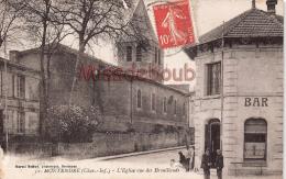 17 - MONTENDRE - Eglise  Vue Des Brouillauds -  Dos Vierge - 2 Scans - Montendre
