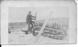 Tracteur Américain Holt Soldats Us Army 36è Div. 133è Art. Batt. 1 Photo 1914-1918 14-18 Ww1 WwI Wk - Guerra, Militari